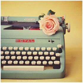 Typewriter rose article