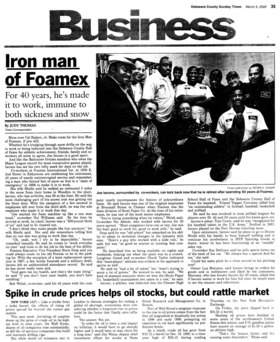 Foamex article