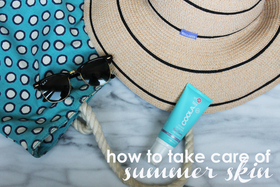 How to take care of summer skin 1 article