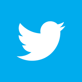 Twitter bird white on blue article