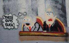 Waldorf statler wall painting article