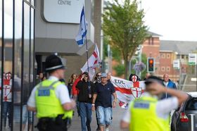 Edl disrupt a teeside palestine solidarity vigil in middlesbrough article