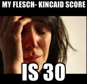 Flesch kincaid score article