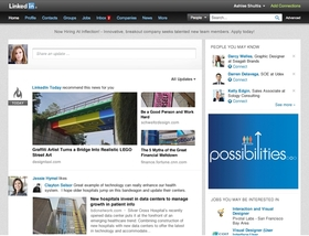 Linkedin homepage article