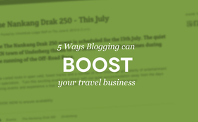 Blogging tips travel article