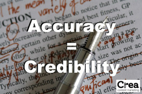 Accuracy equals credibility article