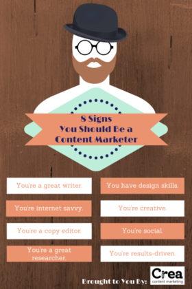 8 signs you should be a content marketer article