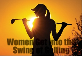 Women get into the swing of golfing article