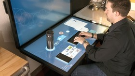 Ideum dynamic desktop tangible touch table article