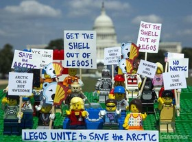 Lego shell protest article