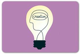 Creative idea lightbulb article