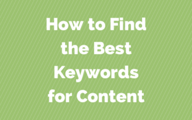 How to find the best keywords for article
