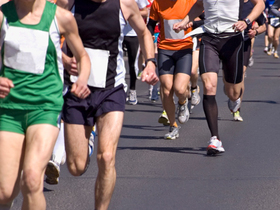 Marathon runners legs article