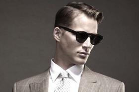 Stylish man sucepr ultra successful business man article
