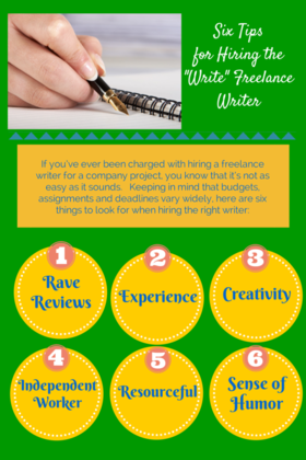 Six tips for hiring the write writer article