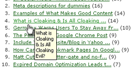 Title usability article