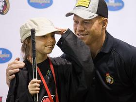 Kiarra kooyman 10 adjusts her cap before posing for a photograph with ottawa s article