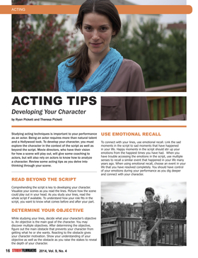 Acting tips article
