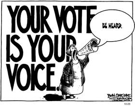Vote cartoon article