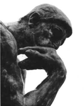 Thinking man statue article