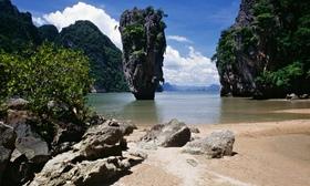 Beach at phang nga bay on 011 article