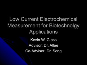Low current electrochemical measurement for biotechnology 1 638 article