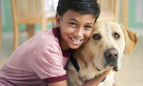 Featured boy and dog article