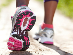 Running shoe article