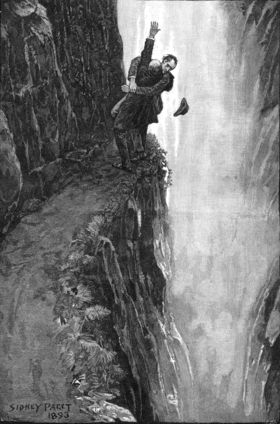 Sherlock holmes and professor moriarty at the reichenbach falls article