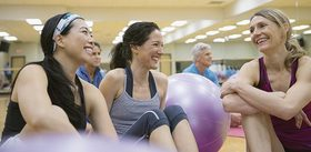 Feature women at workout class article