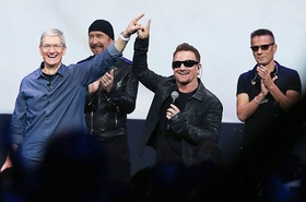 Tim cook u2 bono the edge apple 2014 billboard 650x430 article
