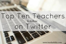 Teachers to follow on twitter article