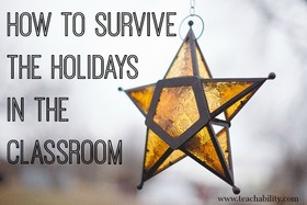 How to survive the holidays teacher article