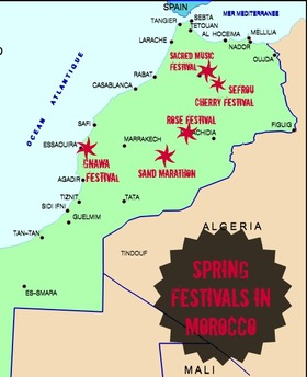 Map of morocco spring festivals article