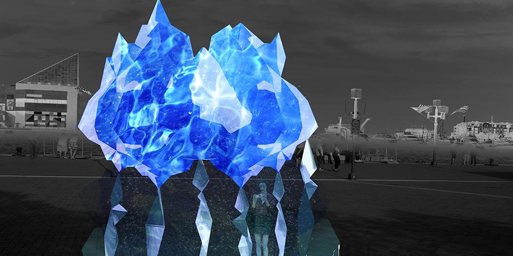 """representation of """"Glacier,"""" by Riki K. (Photo: Riki K)"""