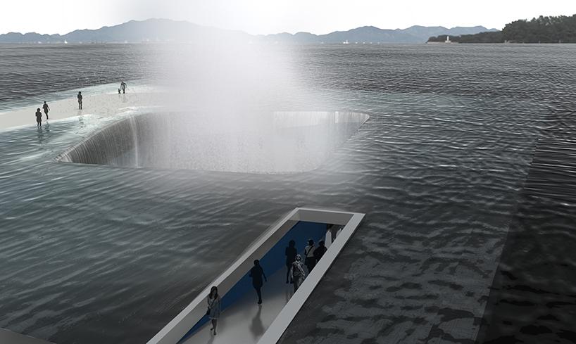 Water Pavilion submerged walkway