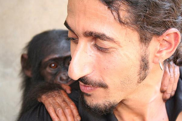 Man and chimp sm