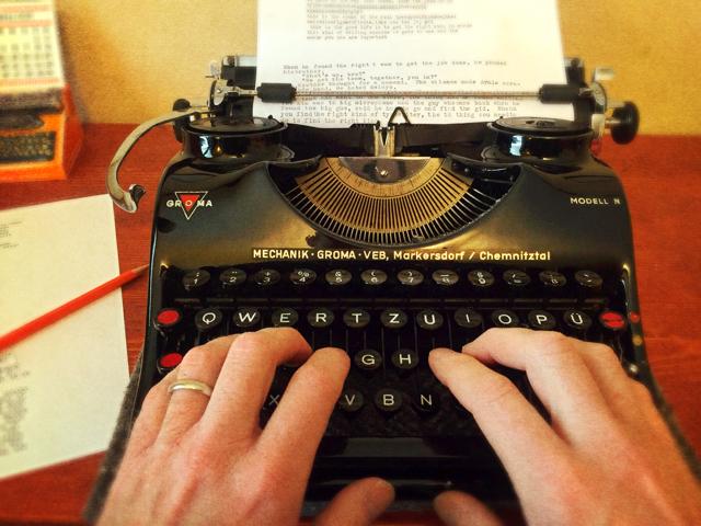 Hands on typewriter 1 1
