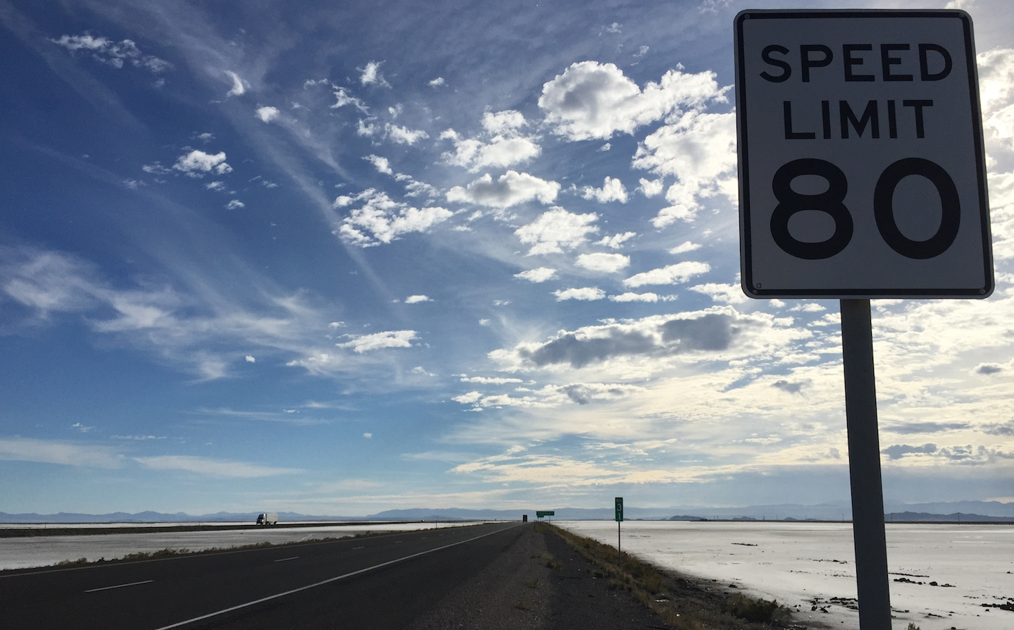 Speed limit sign in Utah