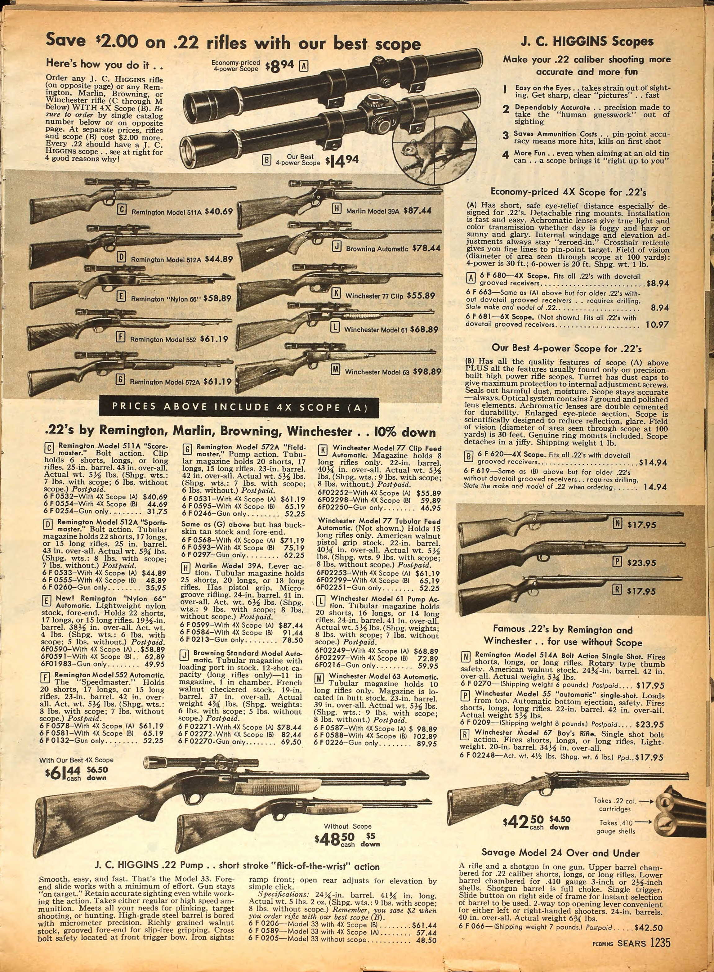 When guns were sold in catalogs (Sears And Montgomery  Wards)