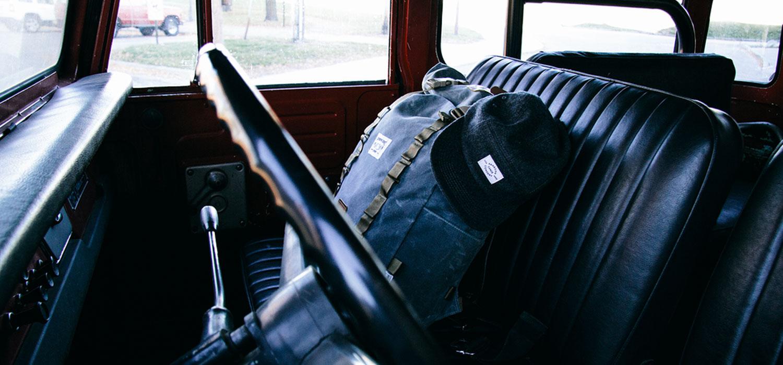 Waxed canvas backpack