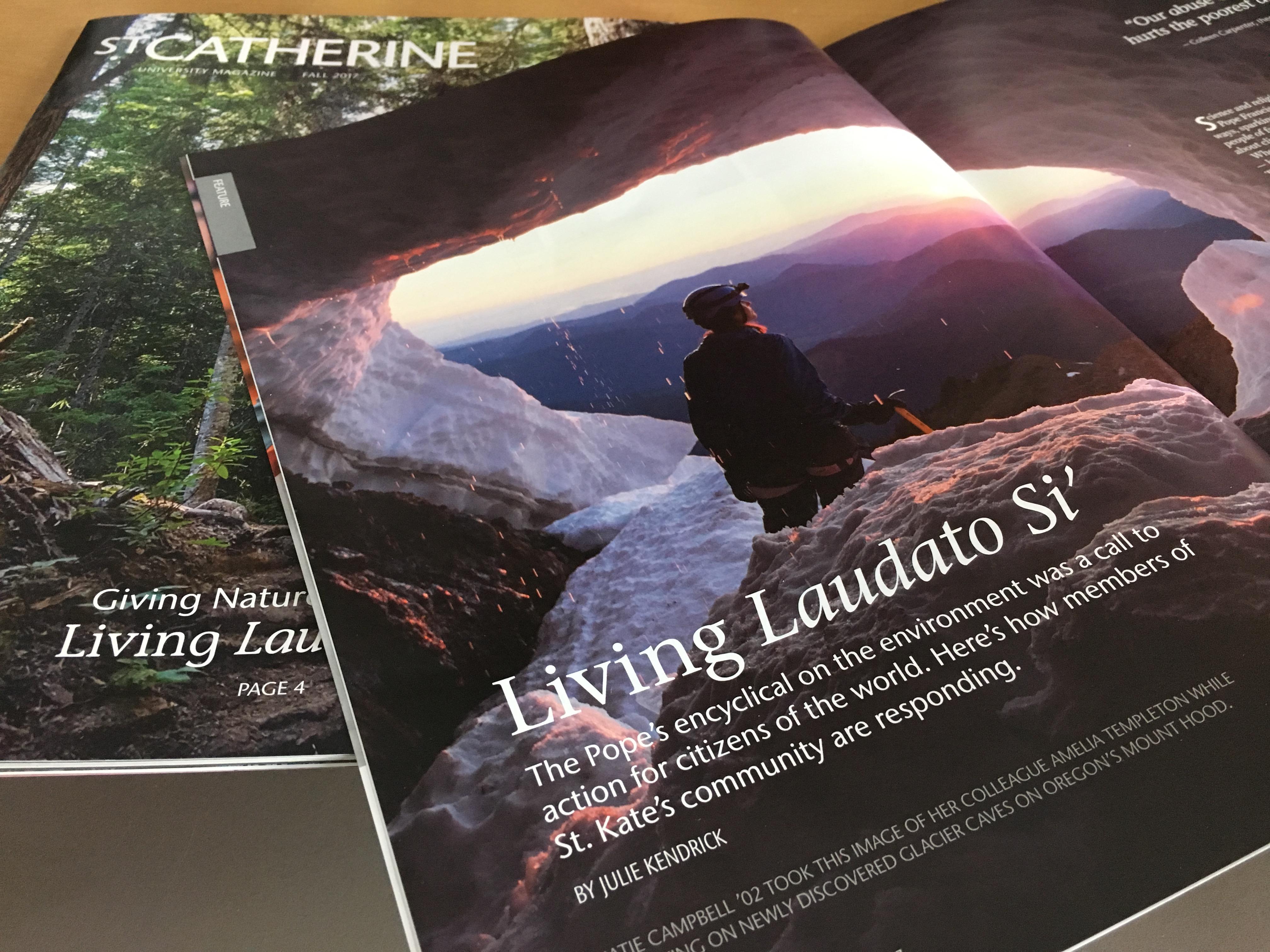 Julie kendrick for st. catherine university magazine