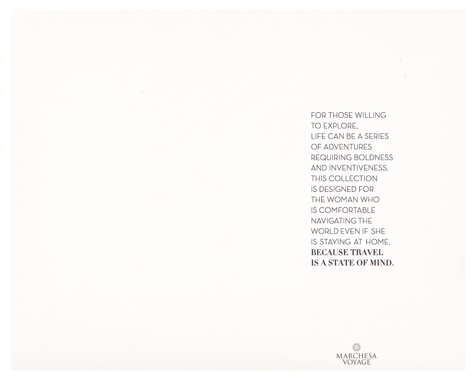 Marchesa voyage brand statement