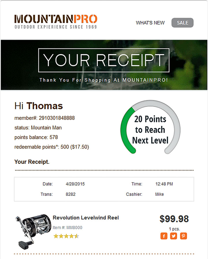 Email marketing best practices: E-receipts