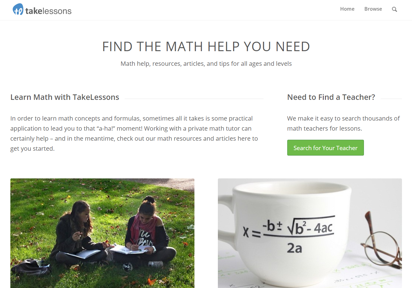 math resources from TakeLessons