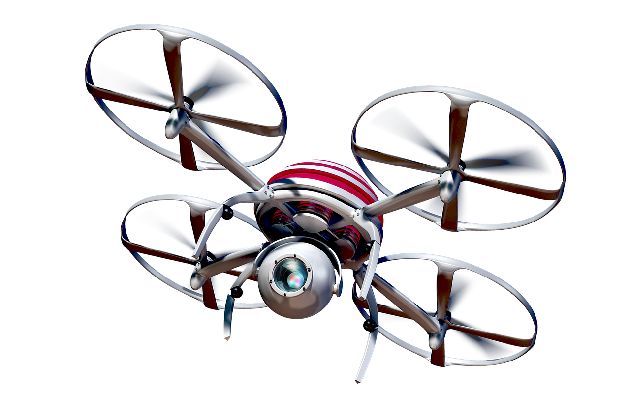 Image of drone via Pixabay