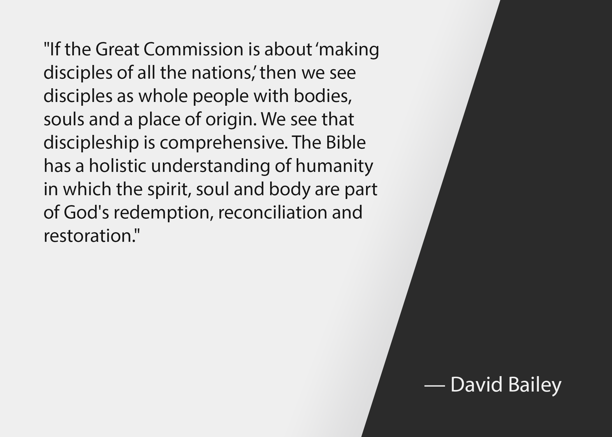 Church leadership quotes: David Bailey quote