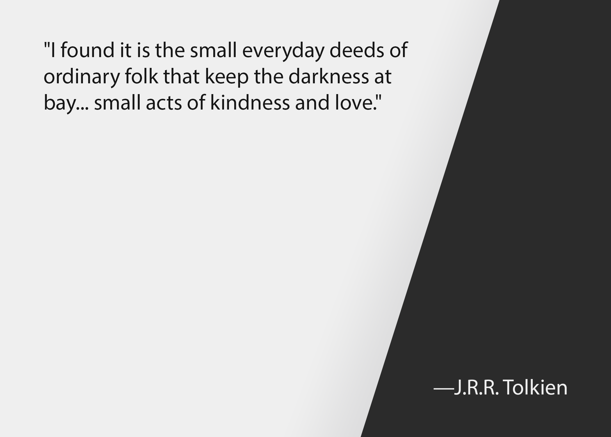 Church leadership quotes: J.R.R. Tolkien quote