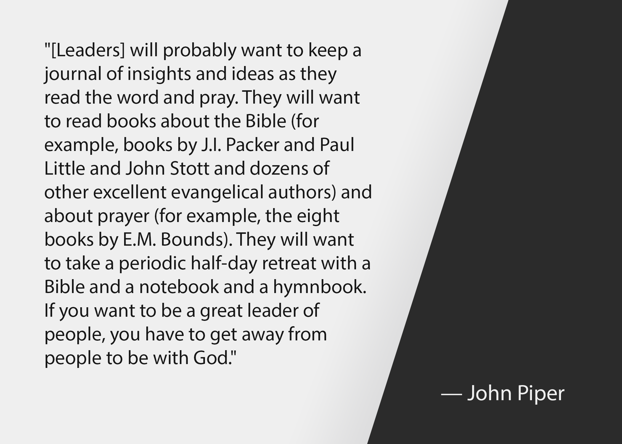 Church leadership quotes: John Piper quote