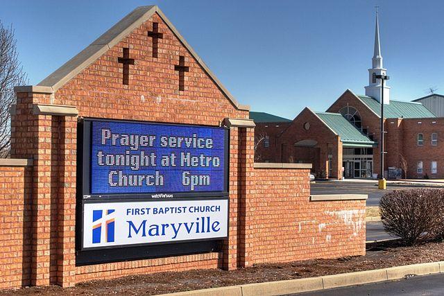 Digital church signs: A nice digital church sign with masonry